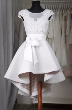 Sexy Prom Dress,Prom Dress,Simple white lace short prom dress,High low homecoming dresses,homecoming dresses from OKProm - Junior Homecoming Dresses, High Low Prom Dresses, Dresses Short, Trendy Dresses, Elegant Dresses, Sexy Dresses, Casual Dresses, Dress Prom, Formal Dresses