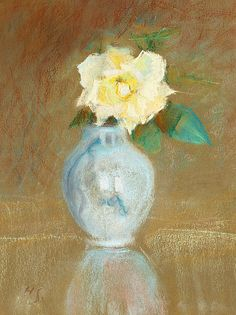 Helene Schjerfbeck Rose in a Vase Late 19th - early 20th century