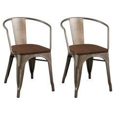 Carlisle Wood Seat Dining Chair - Natural Metal ... : Target