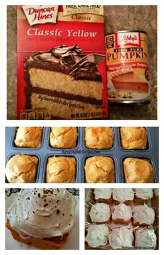 2 Ingredient Pumpkin Cupcakes!