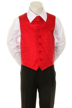 Boy's Formal Vest and Tie Set - Red  #shoppingonline #shoppingday #fashionstyle #onlinestore #instalikes #canada #fashion #instagram #canadaonline #fashionista