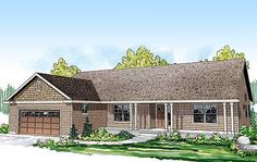 Classic Ranch Home Plan - 72676DA | Ranch, 1st Floor Master Suite, Butler Walk-in Pantry, CAD Available, Den-Office-Library-Study, PDF | Architectural Designs