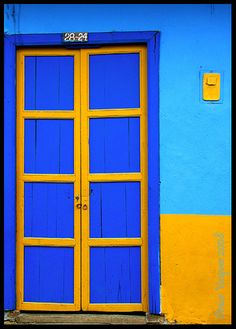 Door in Colombian village--Photo by Omar Vasquez