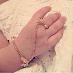 Baby Bracelet With Ring Jewellery Pinterest Baby Jewelry