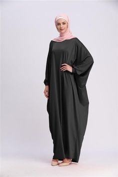 0d97bf5ee2e Casual One-Size Dress Bat Sleeve Maxi Loose Islamic Clothes. Prière  IslamiqueRobe MusulmaneHabits ...