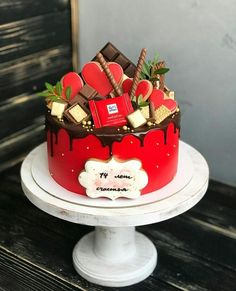 Strawberry Birthday Cake, Birthday Cake With Flowers, Christmas Desserts, Fun Desserts, Cricket Birthday Cake, Cake For Husband, Bithday Cake, Fresh Flower Cake, Order Cake