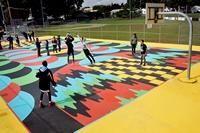 19 Basketball Court Inspiration Ideas Basketball Court Basketball Public Art
