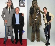 Star Wars - Then and Now - Han Solo and Chewbacca