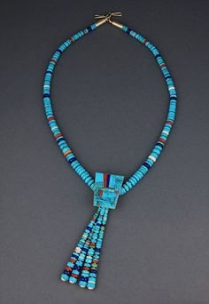 14K & Multi-Stone Necklace by Boyd Tsosie (Navajo)