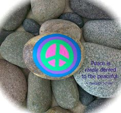 Peace Rocks ~ my first word peace rock word print.  Going to do some more. ♥ ♥ ♥