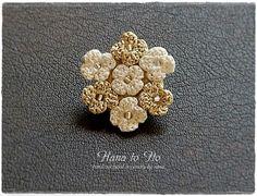 Crochet Brooch, Knit Crochet, Crochet Necklace, Crochet Jewellery, Beaded Earrings, Earrings Handmade, Stud Earrings, Crochet Flower Tutorial, Crochet Flowers
