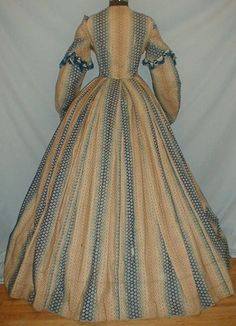1860s blue/gold ombre pattern by pseitas, via Flickr