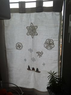 My christmas holidays kitchen curtains