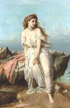 ~By The Sea ~Thomas Francis Dicksee_Miranda