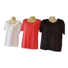 Γυναικείες καλοκαιρινές μπλούζες φαρδιά γραμμή Μεγέθη M-XXL σε διάφ. 2b419e9bb46