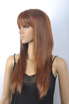 New fashion long brown mix Lady s Wigs for women wig  Unbranded 034bcdbf53
