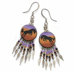 Bucking Horse Earrings - Horse Themed Gifts, Clothing, Jewelry & Accessories all for Horse Lovers