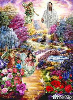 Chua giesu va Thien thanks Jesus And Mary Pictures, Pictures Of Jesus Christ, Religious Pictures, Mary And Jesus, Angel Pictures, God Pictures, Christian Drawings, Christian Artwork, Good Night Flowers