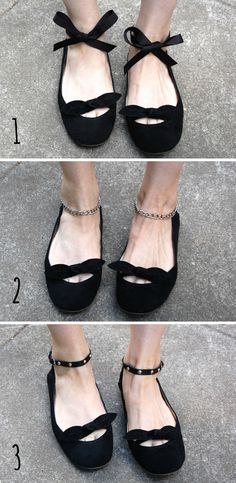 Crafty Lady Abby: SHOE MAKEOVERS: Temporary Additions