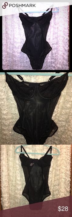 Black sheer teddy Simple yet sexy. Unlined cups for a more natural shape. Perfect additions to your wardrobe! Snaps at the groin for ease. ;) never worn. Tags attached. Victoria's Secret Other