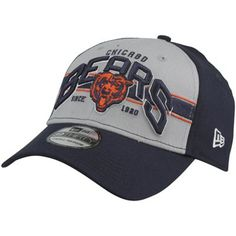 New Era Chicago Bears Tri-Band 39THIRTY Flex Hat - Navy Blue/Gray