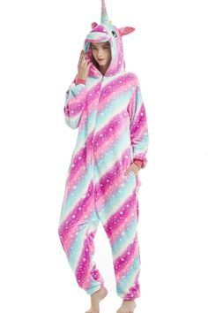Rainbow Star Unicorn Onesie Costume For Adults And Teenagers. Hallowitch  Costumes. halloween Rainbow Star Unicorn onesie kigurumi pajama ... f8ef891de