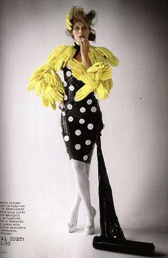 Make Do and Mend (British Vogue)  Model: Malgosia Bela  Tim Walker - Photographer  Kate Phelan - Fashion Editor/Stylist  Malcolm Edwards - Hair Stylist  Samantha Bryant - Makeup Artist