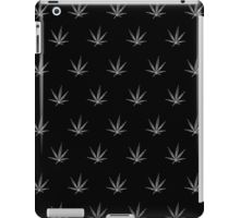 iPad Case/Skin - This pot leaf pattern, marijuana design is clean looking and understated, but still lets your appreciation for cannabis show. This design is also available with a white background.