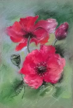 Poppies/pastel