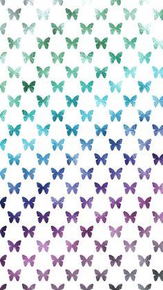 Metallic Rainbow Butterflies Free iPhone Wallpaper