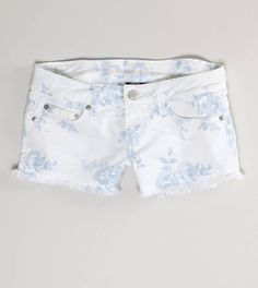 White & blue floral shorts - #summer #shorts #floral