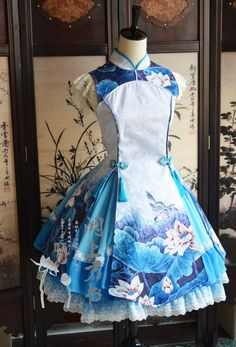 Qi lolita dress, lovely blues