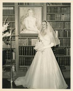 8 X 10 Vintage Photo Library Bride Photography by dawnandross, $15.00