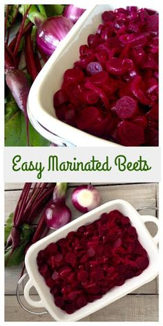 Easy Marinated Beets - Dinner Was Delish Canned Beets Recipe, Pickled Beets Recipe, Pickled Beet Salad, Beetroot Recipes, Beet Salad Recipes, Recipes For Beets, Beet Recipes Healthy, Smoothie Recipes, Vegetable Side Dishes