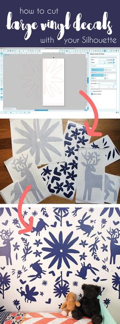 how to cut extra large vinyl decals with your Silhouette - cut settings plus how…