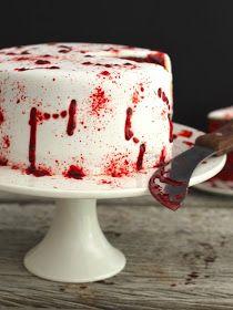 butter hearts sugar: Vamp Attack Halloween Cake