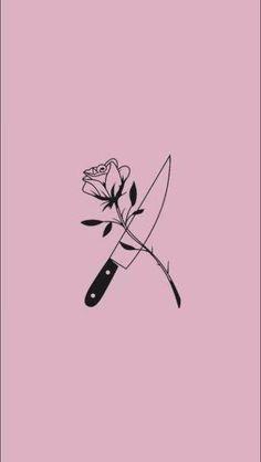 Pink Wallpaper Iphone, Rose Wallpaper, Tumblr Wallpaper, Aesthetic Iphone Wallpaper, Wallpaper Backgrounds, Aesthetic Wallpapers, Retro Kunst, Tattoo Drawings, Art Drawings