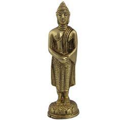 Amazon.com: Buddha Religious Statue Collectible Figurines in Brass: Furniture & Decor
