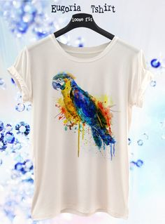 Fashion Parrot t-shirt, animal t-shirt All sizes by Eugoria Shop