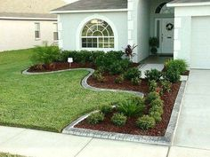 Steal these cheap and easy landscaping ideas for a beautiful backyard. Get our best landscaping ideas for your backyard and front yard, including landscaping design, garden ideas, flowers, and garden design. Small Front Yard Landscaping, Front Yard Design, Driveway Landscaping, Outdoor Landscaping, Backyard Landscaping, Outdoor Gardens, Driveway Ideas, Farmhouse Landscaping, Backyard Ideas