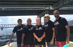 Jay Boodheshwar and friends in Big Pine Key, Florida. 163 miles from the Town of Palm Beach United Way office.