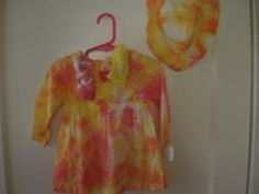Infant tie dye cotton eyelet outfit by NereidasNiftyThreads, $29.50