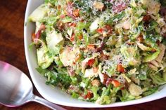 Shredded Brussels Sprout Salad with Citrus Vinaigrette