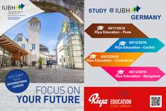 Study @ IUBH, Germany and Kick Start your International Career!!! Come and meet the delegate to get first hand information. Visit our website for more.