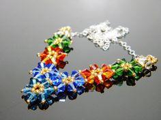 Merida Highland Princess Flower Swarovski Crystal by WhimsyBeading, $40.00