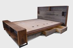 The Platform Bed with Headboard Storage // by ThisIsUrbanMade