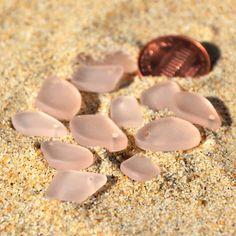 6 Pairs 12pcs Mixed Mini Flat Freeform Peach by BeadsintheSea, $6.48