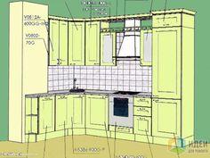 """Кухня в доме серии """"П"""", моя планировка"""
