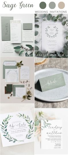 sage green wedding invitations Planning a 2020 wedding? Bride and groom will first of all choose their colors and themes. We've got some uniquely beautiful ideas---silver sage wedding color. Wedding Ceremony Ideas, Wedding Bride, Wedding Decor, Wedding Songs, Wedding Set, Green Wedding Invitations, Wedding Stationary, Wedding Invites Rustic, Sage Bridesmaid Dresses