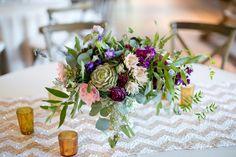 Green & Purple Succulent Centerpiece   Kickstand Studio